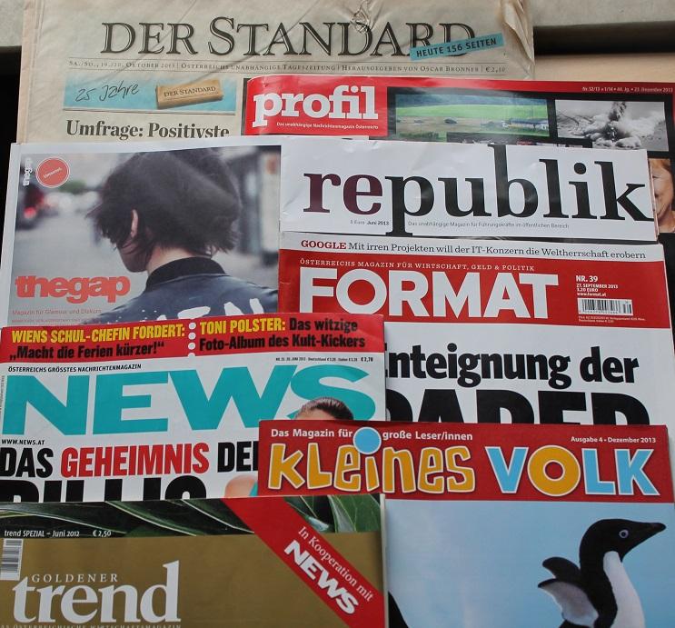 Printmedien am Österreich Institut Brno